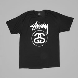 STUSSY STOCK LINK T SHIRT BLACK
