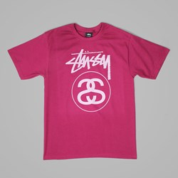STUSSY STOCK LINK T SHIRT GRAPE