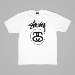 STUSSY STOCK LINK T SHIRT WHITE