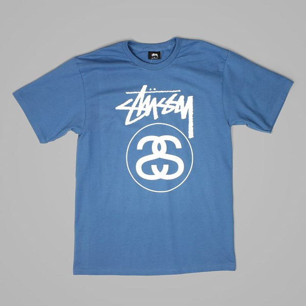STUSSY STOCK LINK T SHIRT STEEL