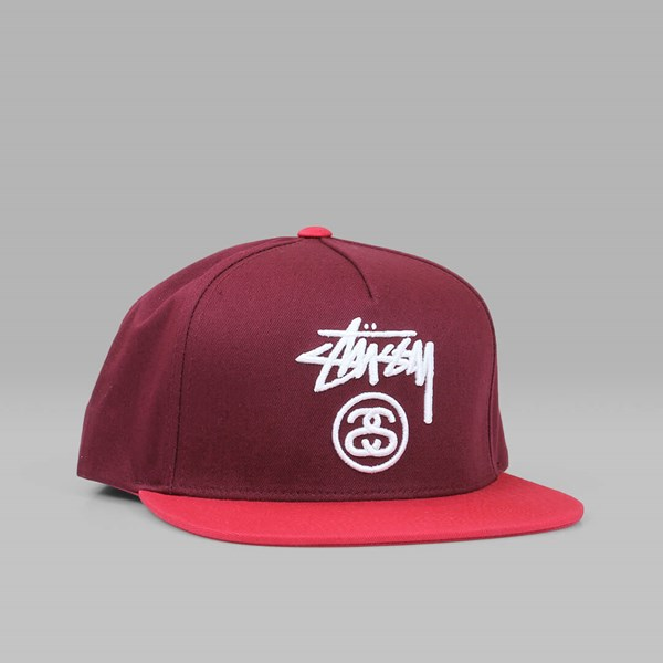 898432a9904 STUSSY STOCK LOCK SP17 SNAPBACK RED