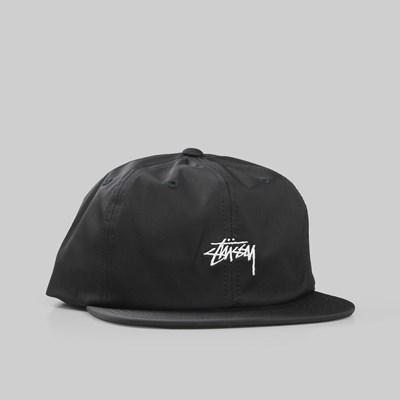 STUSSY STOCK POLY COTTON SNAPBACK BLACK