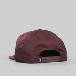 STUSSY STOCK POLY COTTON SNAPBACK BURGUNDY