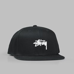 STUSSY STOCK SP18 SNAPBACK CAP BLACK