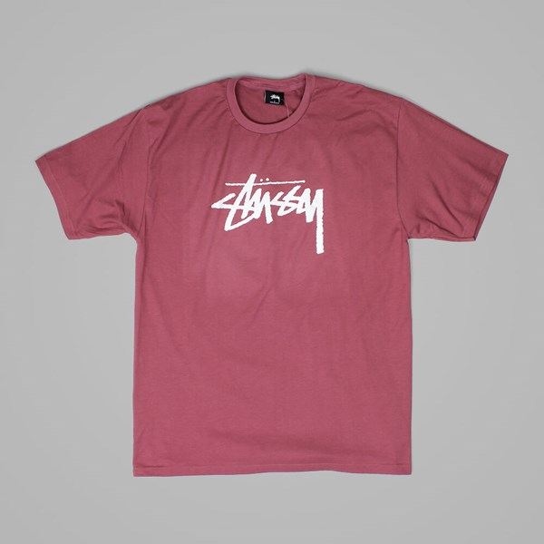 STUSSY STOCK T SHIRT BERRY