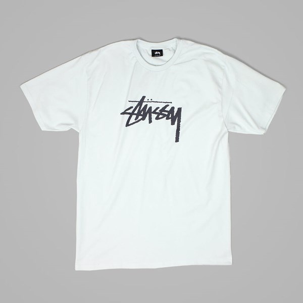STUSSY STOCK T SHIRT ICE BLUE