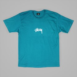 STUSSY STOCK T SHIRT DARK TEAL