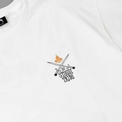 STUSSY SWORDS T SHIRT WHITE