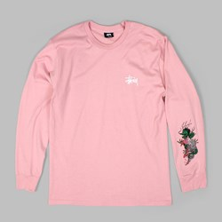 STUSSY WAVE DRAGON LONG SLEEVE TEE DUSTY ROSE