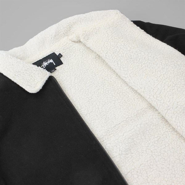STUSSY WOOL B-10 JACKET BLACK