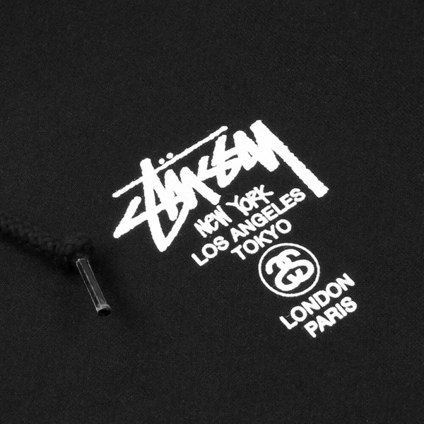 STUSSY WORLD TOUR HOOD BLACK