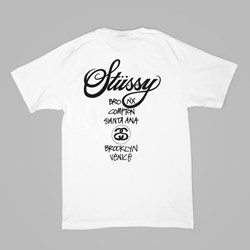 STUSSY WORLD TOUR T SHIRT WHITE