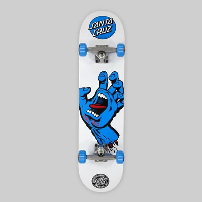 SANTA CRUZ COMPLETE SCREAMING HAND WHITE BLUE 7.75""