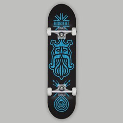 HABITAT COMPLETE SKATEBOARD SEA KING BLACK 8.38""