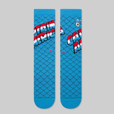STANCE X MARVEL CAPTAIN AMERICA SOCKS BLUE