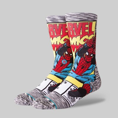 STANCE X MARVEL SPIDERMAN COMIC SOCKS GREY