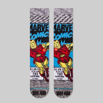 STANCE X MARVEL IRON MAN COMIC SOCKS GREY