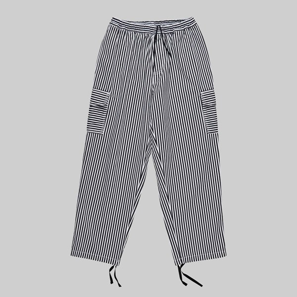 POLAR SKATE CO. STRIPE CARGO PANTS WHITE BLACK