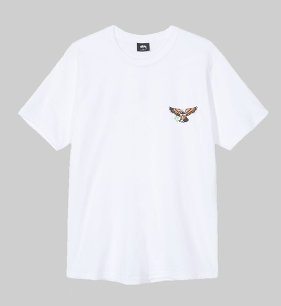 STUSSY EAGLE SS T-SHIRT WHITE