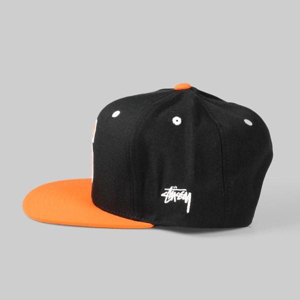 664742eaf30 Stussy Mesh Big S Snapback Cap Black