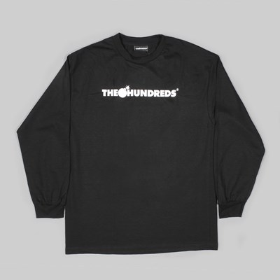 THE HUNDREDS FOREVER BAR LOGO LS TEE BLACK