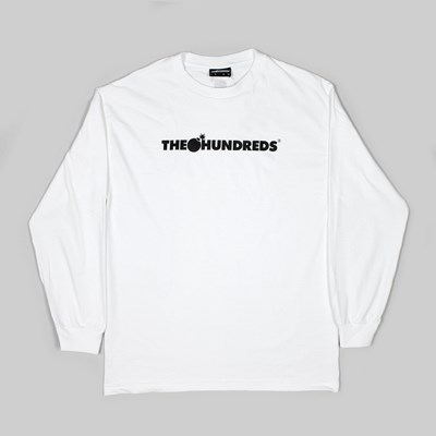 THE HUNDREDS FOREVER BAR LOGO LS TEE WHITE