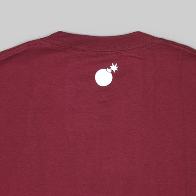 THE HUNDREDS FOREVER BAR LOGO SS TEE BURGUNDY