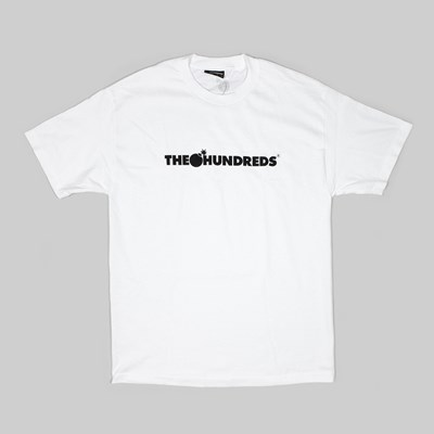 THE HUNDREDS FOREVER BAR LOGO SS TEE WHITE