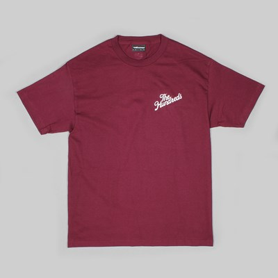 THE HUNDREDS FOREVER SLANT CREST SS TEE BURGUNDY