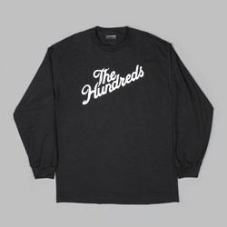 THE HUNDREDS FOREVER SLANT LOGO LS TEE BLACK