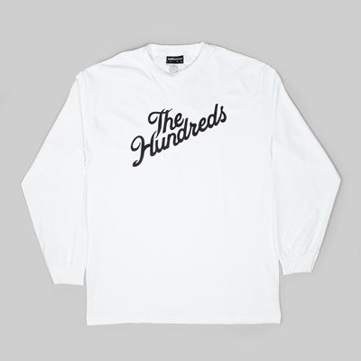 THE HUNDREDS FOREVER SLANT LOGO LS TEE WHITE