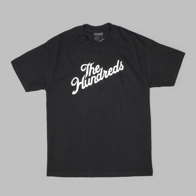 THE HUNDREDS FOREVER SLANT LOGO TEE BLACK