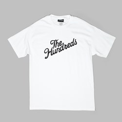 THE HUNDREDS FOREVER SLANT LOGO TEE WHITE