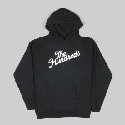 THE HUNDREDS FOREVER SLANT PO HOODY BLACK