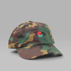THE HUNDREDS 'THE ROSE HAT' 5 PANEL CAP CAMO