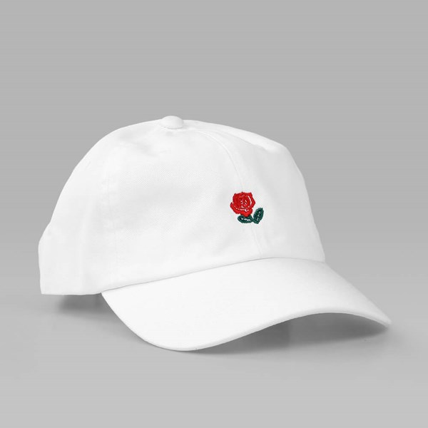 THE HUNDREDS 'THE ROSE HAT' 5 PANEL CAP WHITE