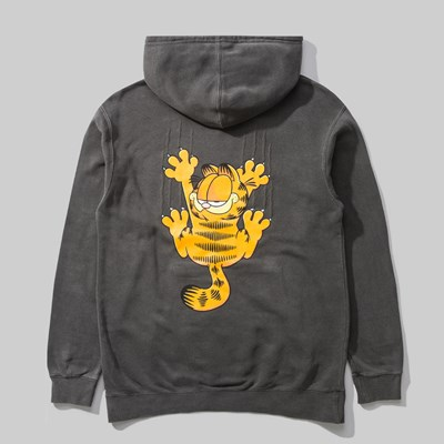 THE HUNDREDS X GARFIELD BAR PO HOOD PIGMENT BLACK