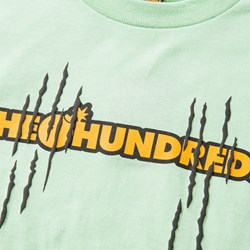 THE HUNDREDS X GARFIELD SCRATCH SS TEE MINT