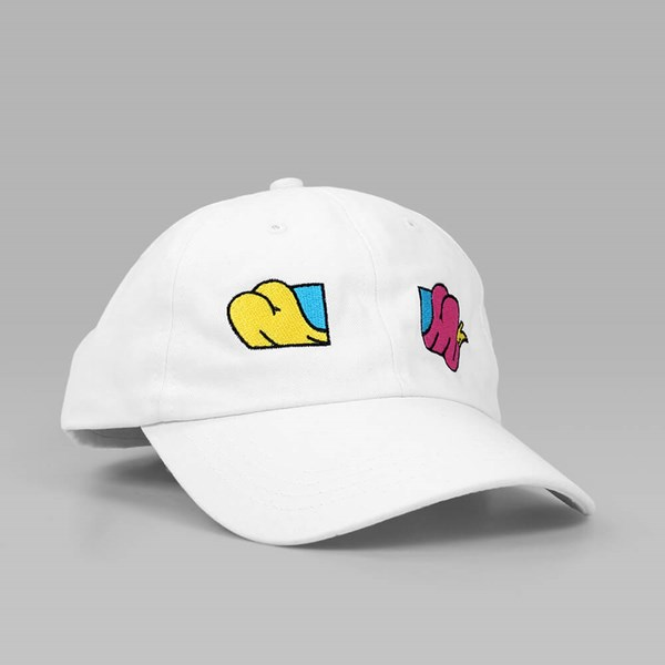 THE HUNDREDS x AARON KAI 'BUTTOX' DAD CAP WHITE