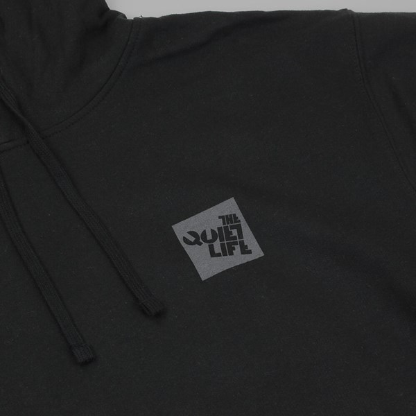 THE QUIET LIFE BLOCK LOGO HOOD BLACK
