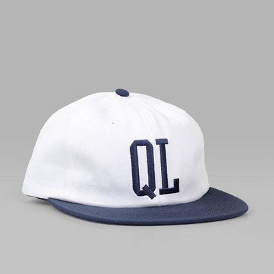 THE QUIET LIFE DUGOUT POLO CAP WHITE-NAVY