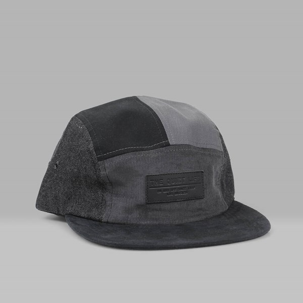 THE QUIET LIFE MULTI PANEL 5 PANEL HAT BLACK