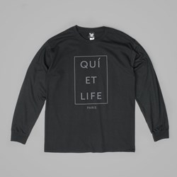 THE QUIET LIFE PARIS LS T SHIRT BLACK