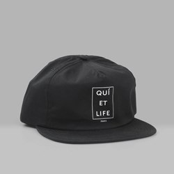 THE QUIET LIFE PARIS RELAXED SNAPBACK CAP BLACK
