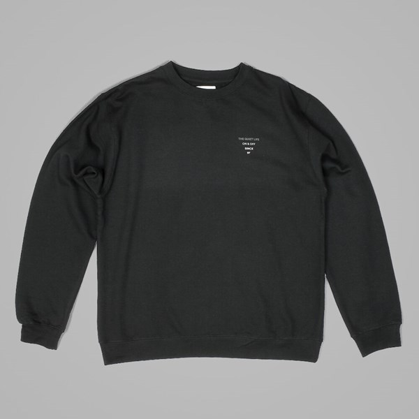 THE QUIET LIFE PYRAMID LOGO CREWNECK BLACK
