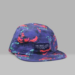 THE QUIET LIFE SATIN CLOUD 5 PANEL CAP RED