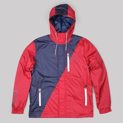 THE QUIET LIFE TRAIL WINDBREAKER RED-NAVY