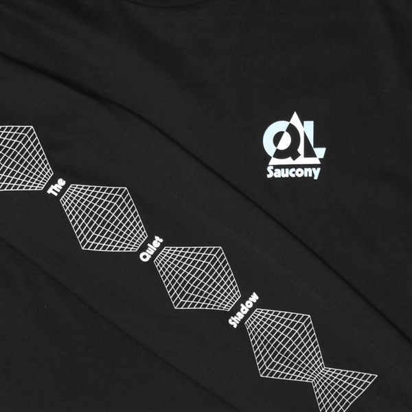 THE QUIET LIFE X SAUCONY GRID LS TEE BLACK