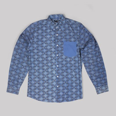 THE QUIET LIFE YARA LS BUTTON SHIRT DOWN BLUE