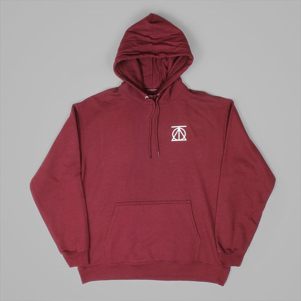 THEORIES CREST PULLOVER HOOD MAROON WHITE